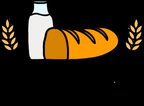 Кефир и полбатона