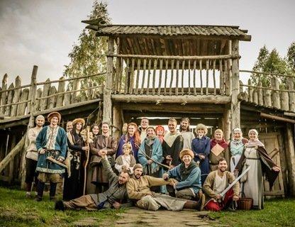 Открытие ворот в парке средневековья