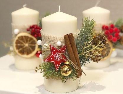 МК по созданию новогодней свечи