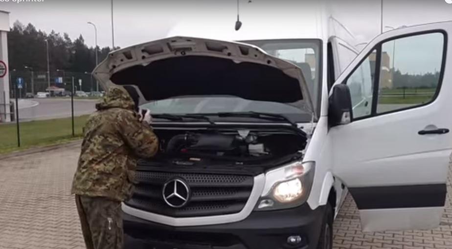 Кадр видеозаписи пресс-службы пограничной охраны Варминско-Мазурского воеводства