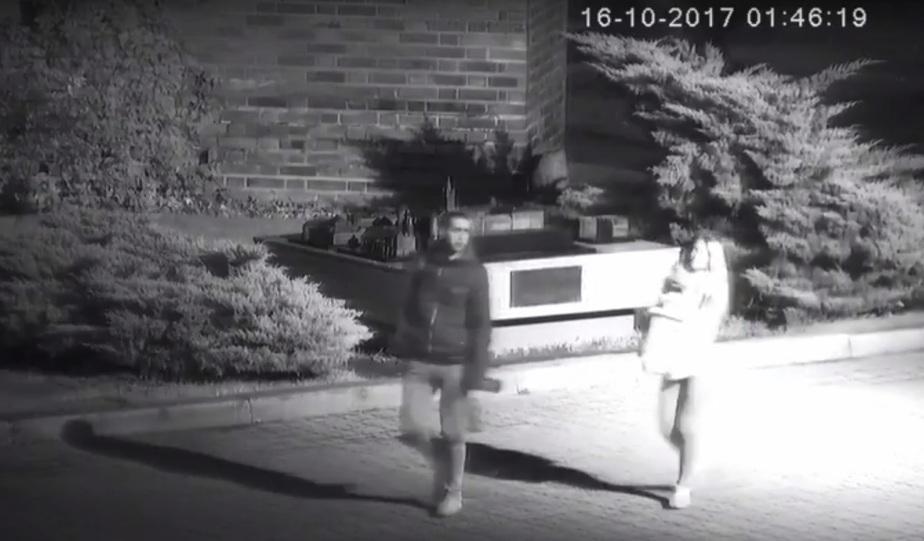 Кадр видеозаписи с камеры наблюдения