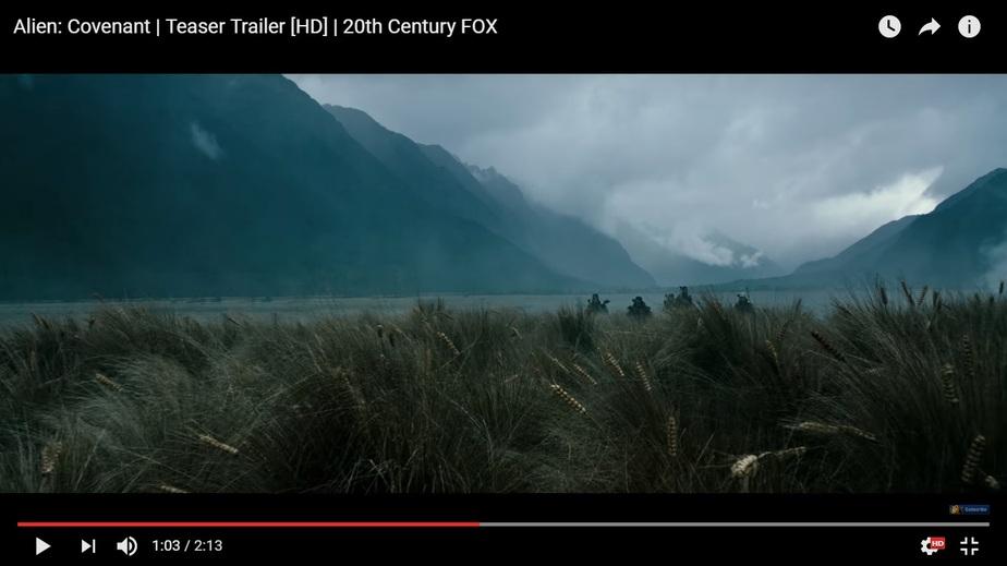 """Кадр из фильма """"Чужой: Завет"""""""
