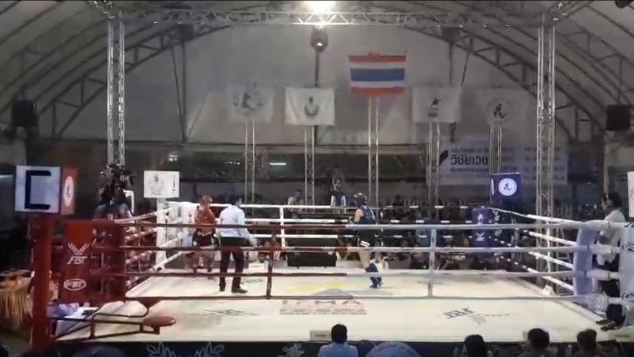 Кадр из видео поединка Маргариты Войтович