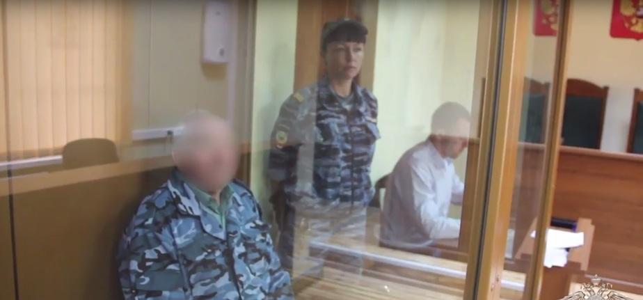 Кадр видеозаписи пресс-службы УМВД России