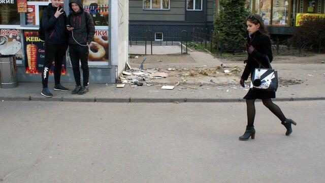 В центре Калининграда снесли две палатки, в которых продавали фастфуд