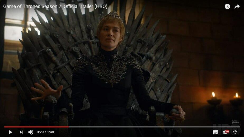 Кадр видеозаписи HBO