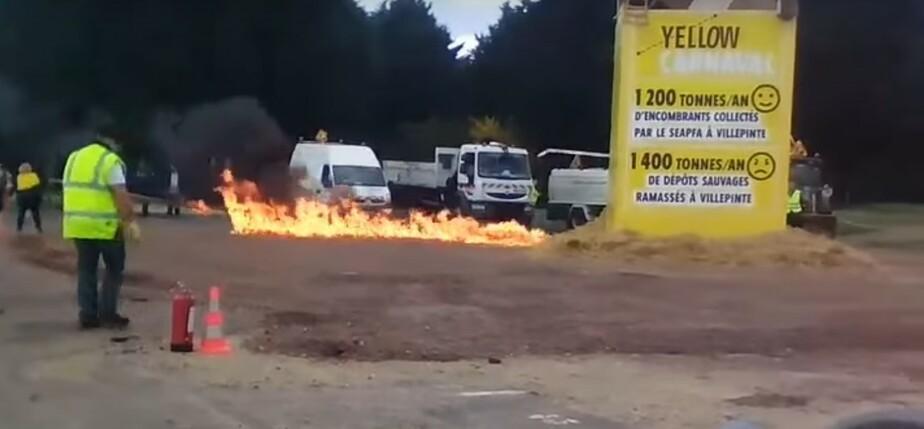 Кадр видеозаписи взрыва
