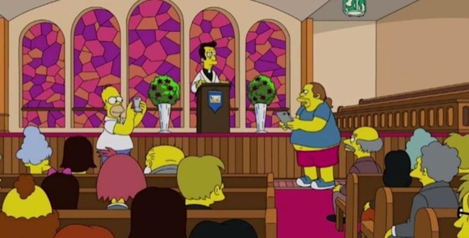 """Кадр из нового эпизода """"Симпсонов"""""""