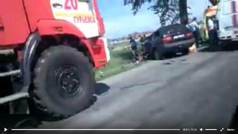 Кадр видеозаписи очевидца