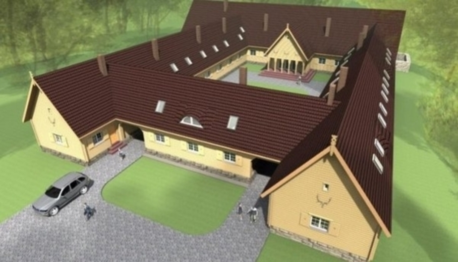 План гостевого дома. Фото с сайта www.gusev-online.ru