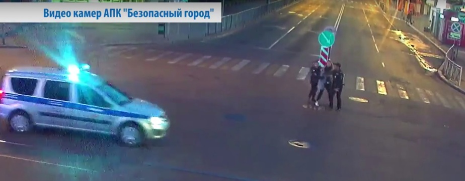 Кадр видеозаписи пресс-службы УМВД по Калининградской области