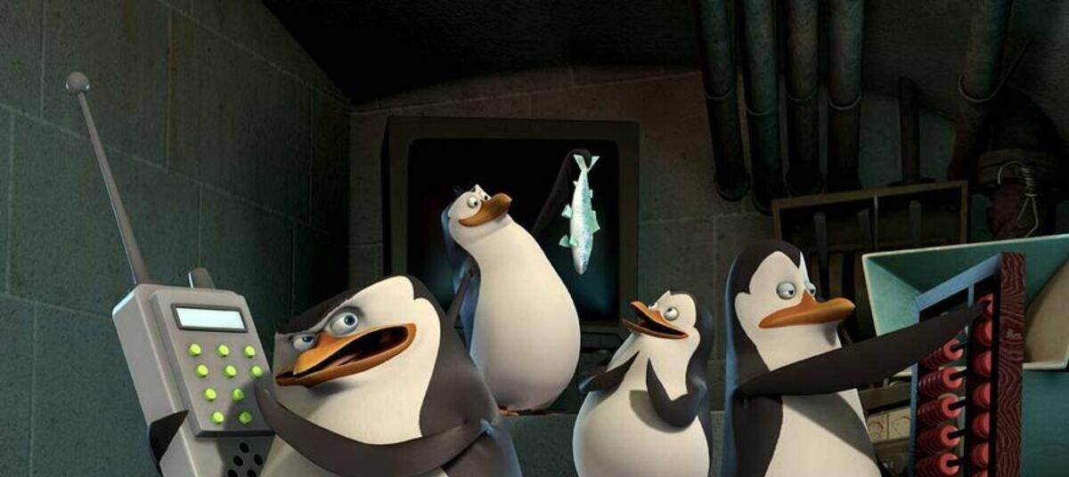 Подписать, гифка пингвинов из мадагаскара