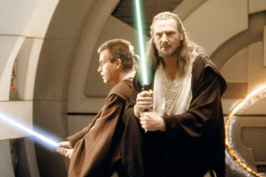 """Кадр из фильма """"Звездные войны. Эпизод I: Скрытая угроза"""""""