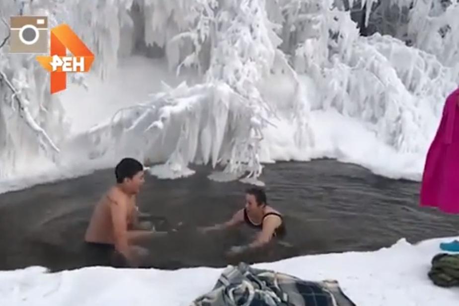 Кадр видеозаписи РЕН ТВ