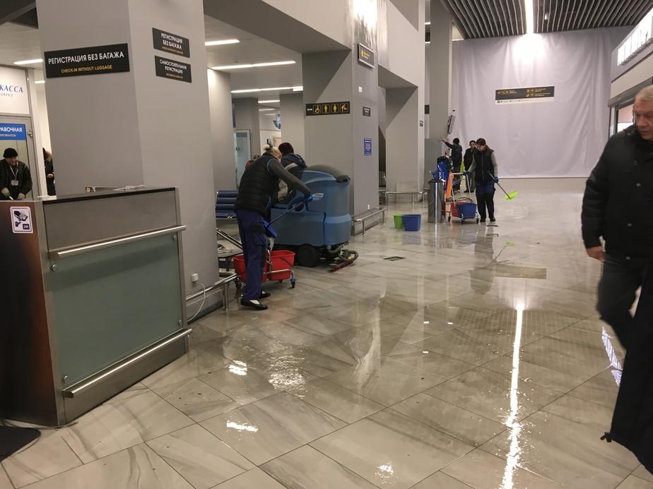В аэропорту Храброво выясняют, почему сработала система пожаротушения