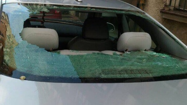 В Гданьске автомобиль калининградцев закидали камнями