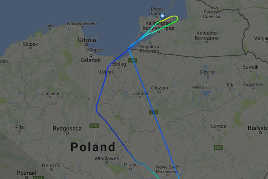 Скриншот сервиса flightradar24