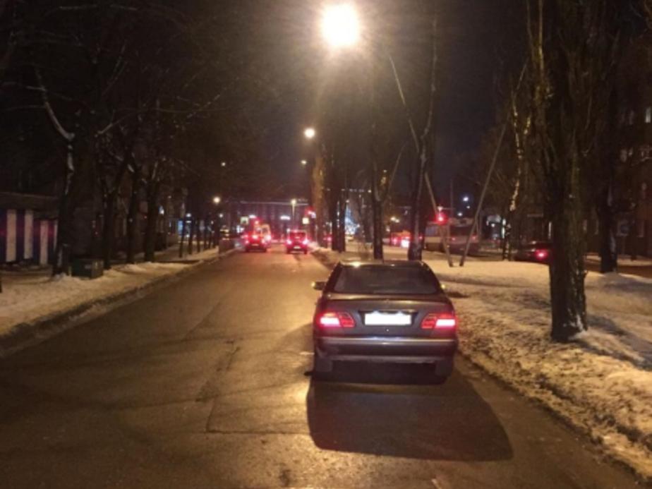 Авария на Ленинском проспекте /Фото: пресс-служба УМВД по Калининградской области