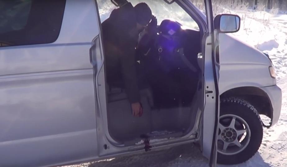Кадр видеозаписи Следственного комитета РФ