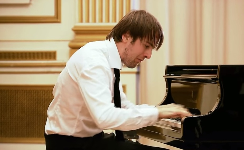 Кадр из видеозаписи выступления Даниила Трифонова