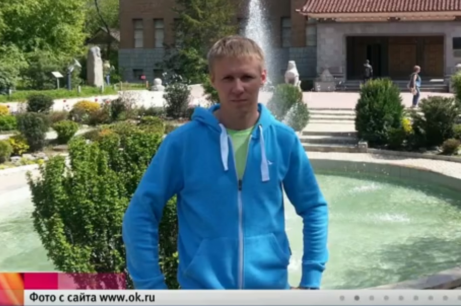 На фото погибший лётчик Роман Филипов / Кадр видеозаписи 1 канала