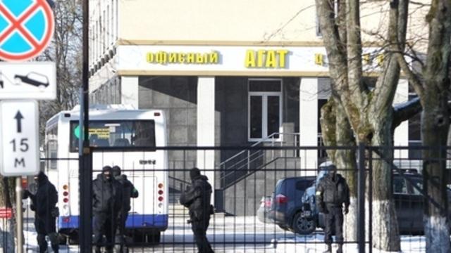 Силовики оцепили здание офисного центра в Калининграде на ул. Горького (обновлено)