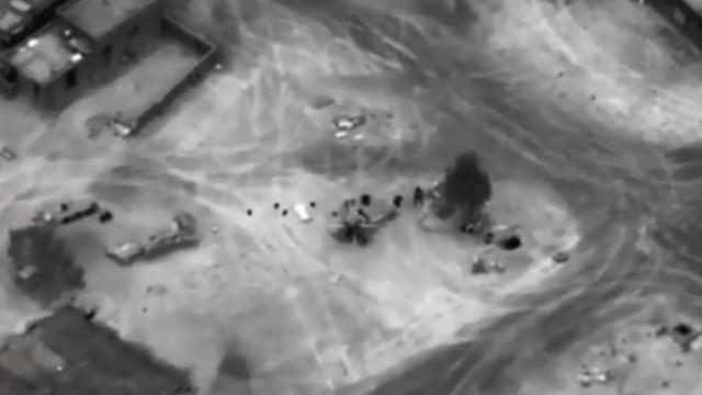 CNN опубликовало видео авиаударов коалиции в Сирии, в результате которых могли погибнуть россияне