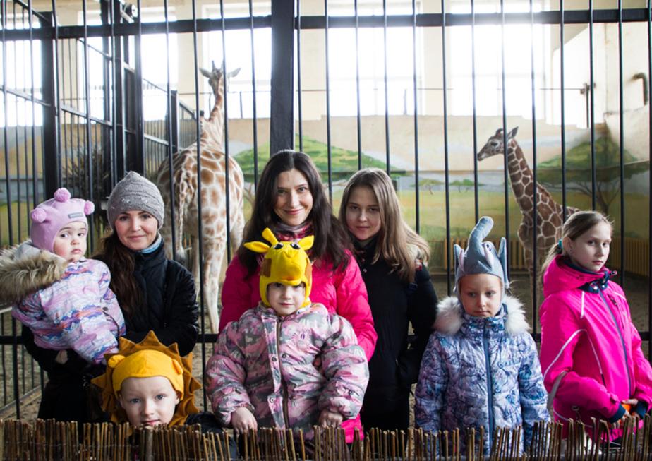 В Калининградском зоопарке наградили победителей конкурса на имя для жирафёнка