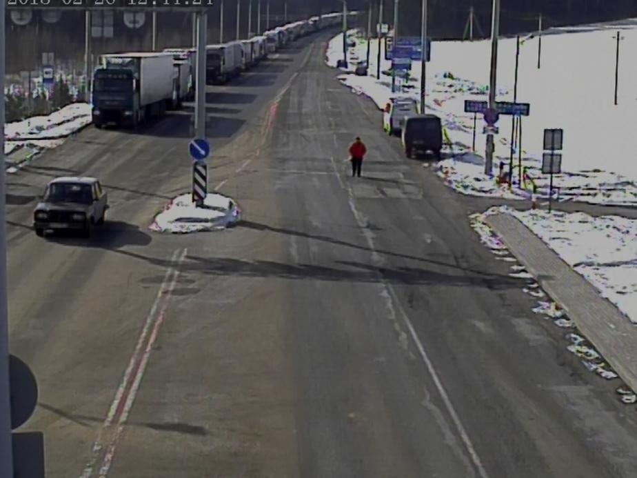 Кадр онлайн-записи очереди выезда из Республики Беларусь