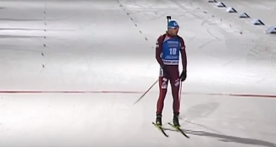 Кадр из видеозаписи соревнований