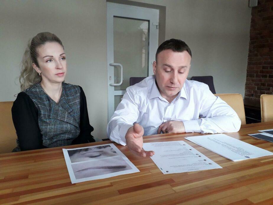 На фото: хозяйка салона Людмила Олинская с мужем