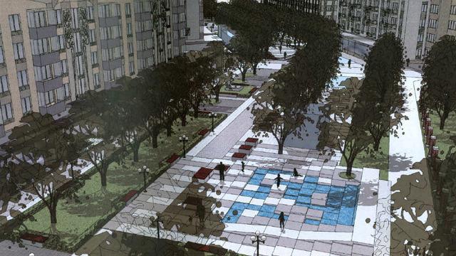 Проект реконструкции сквера ул. Соммера − ул. Рокоссовского