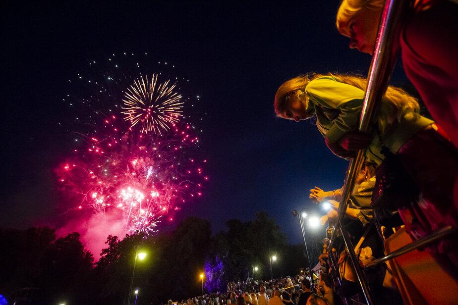 В Калининграде в честь Дня города состоялся фейерверк (фоторепортаж)