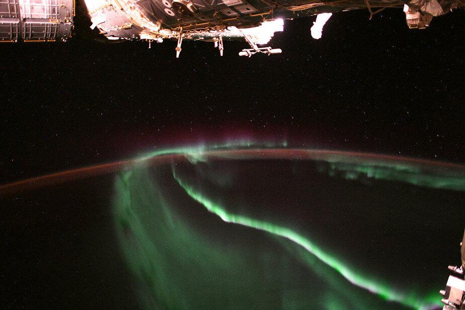 NASA опубликовало сделанный из космоса снимок северного сияния