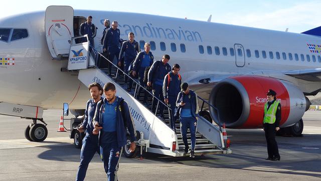 Сборная Швеции по футболу прибыла в Калининград