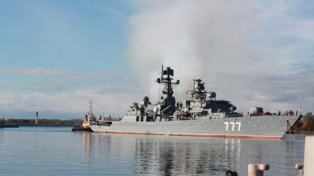 В Балтийск из океанского похода вернулся сторожевой корабль