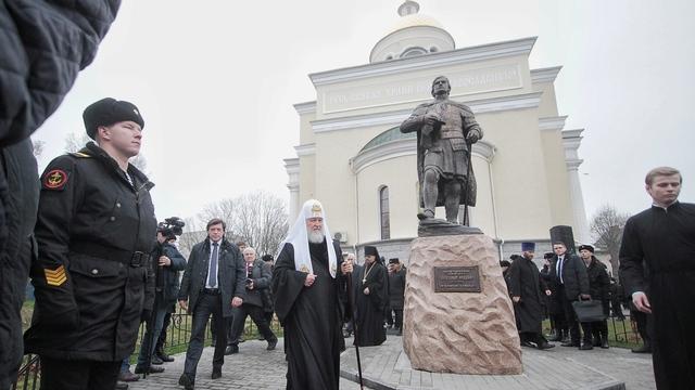 Патриарх Кирилл прибыл в Балтийск освятить памятник князю Александру Невскому
