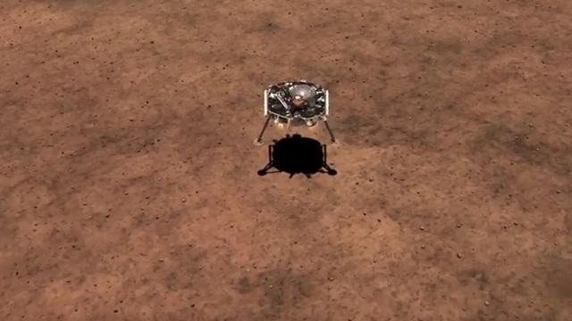 NASA показало видео приземления на Марс
