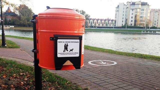 В 2019 году власти Калининграда потратят 400 тысяч рублей на очистку контейнеров для собачьих экскрементов