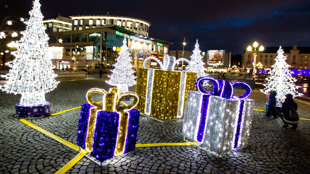 В мэрии предложили включить новогоднюю музыку на площади Победы