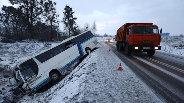 Появилось видео аварии с пассажирским автобусом под Черняховском