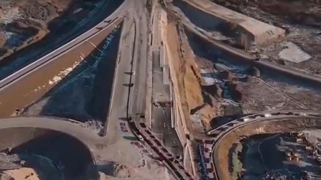 Как выглядит с высоты строящаяся развязка на Невского и Окружной (видео)