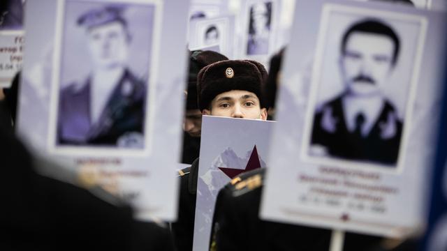 В Калининграде прошёл митинг в честь 30-летней годовщины вывода войск из Афганистана (фоторепортаж)