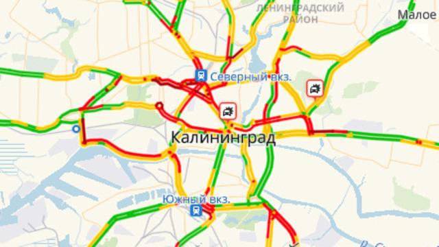 Из-за ДТП на Приморском кольце собралась пробка на въезд