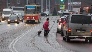 """""""За газеткой шла"""": как в Калининграде штрафовали пешеходов-нарушителей (видео)"""