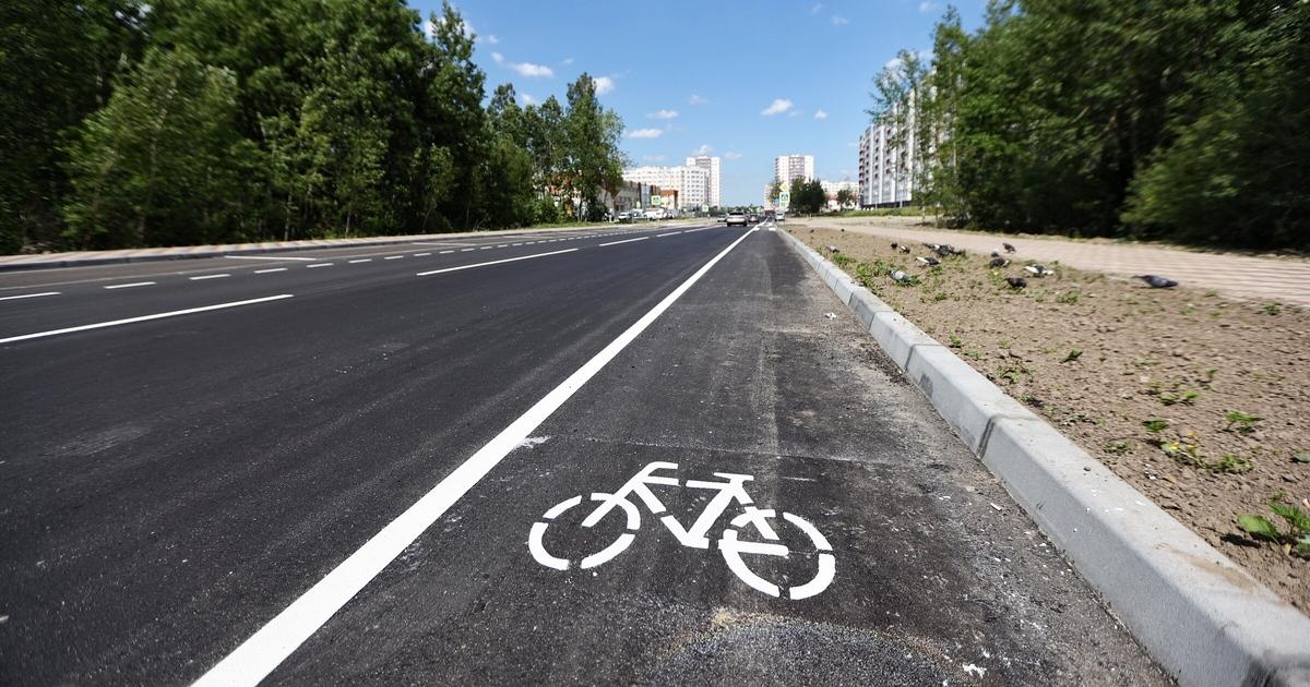 горизонтальный кадр велосипедная дорожка фото большое количество
