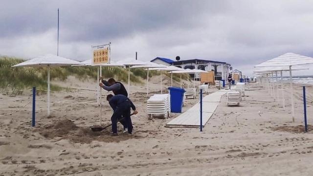 В Янтарном восстановили размытый штормом пляж с