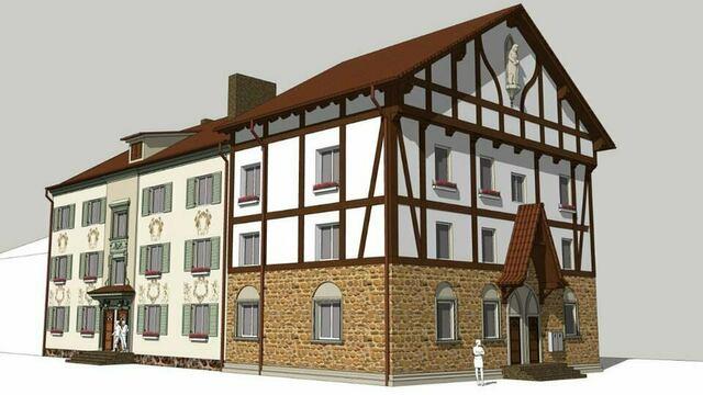 Утверждён внешний вид домов в Железнодорожном после ремонта (эскизы)