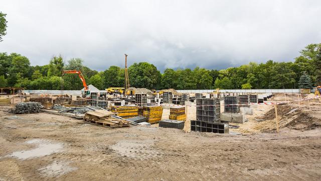 В Южном парке Калининграда началось строительство спорткомплекса с бассейном олимпийского класса (фото)