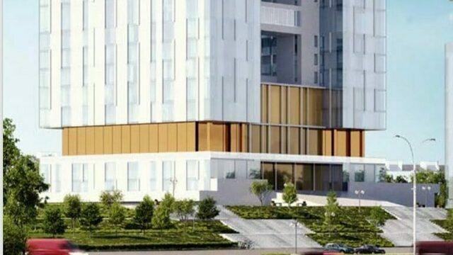 Представлен вариант оформления фасада Дома Советов (эскизы)